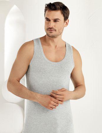 Sahinler Herren Modal Unterhemd Grau ME115