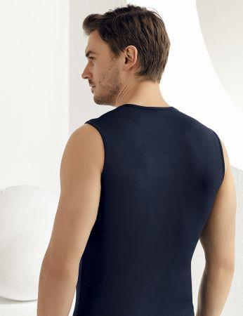 Sahinler Herren Modal Unterhemd Marineblau ME116