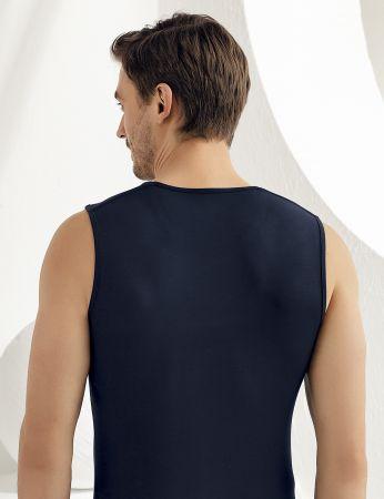 Şahinler - Sahinler Herren Modal Unterhemd Marineblau ME117 (1)