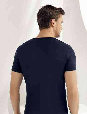 Şahinler - Sahinler Herren Modal Unterhemd Marineblau ME118 (1)