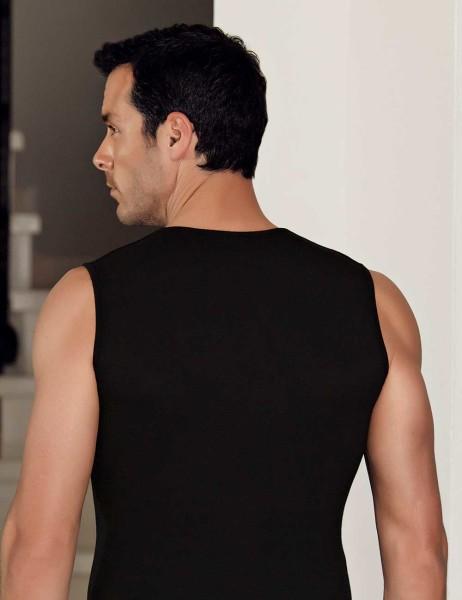 Sahinler Herren Modal Unterhemd Schwarz ME117