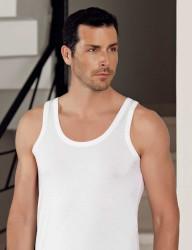 Şahinler - Sahinler Herren Modal Unterhemd Weiß ME115