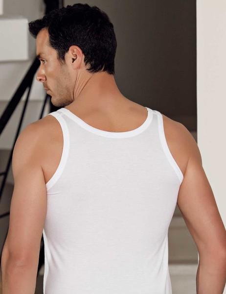 Şahinler - Sahinler Herren Modal Unterhemd Weiß ME115 (1)