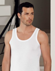 Sahinler Herren Modal Unterhemd Weiß ME115 - Thumbnail