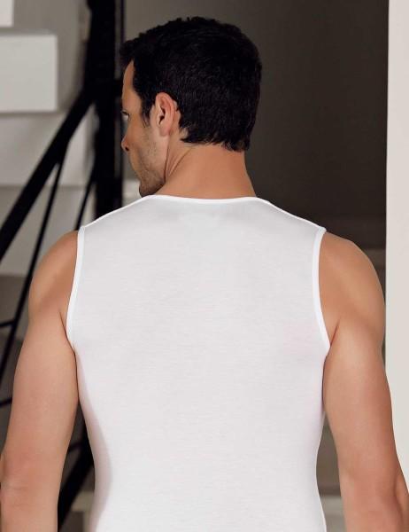 Sahinler Herren Modal Unterhemd Weiß ME117