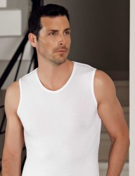 Sahinler Herren Modal Unterhemd Weiß ME117 - Thumbnail