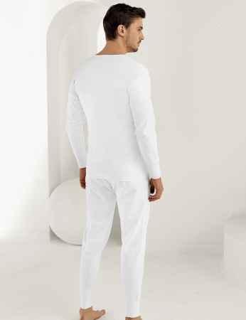 Şahinler - Sahinler Interlock Unterhemd lang mit Manschetten weiß ME017 (1)
