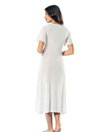 Şahinler Kadın Gecelik Beyaz MBP24142-2 - Thumbnail