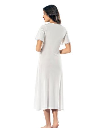 Şahinler - Şahinler Kadın Gecelik Beyaz MBP24142-2 (1)