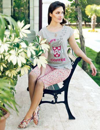 Şahinler - Şahinler Kadın Kapri Takım Gri MBP24009-1