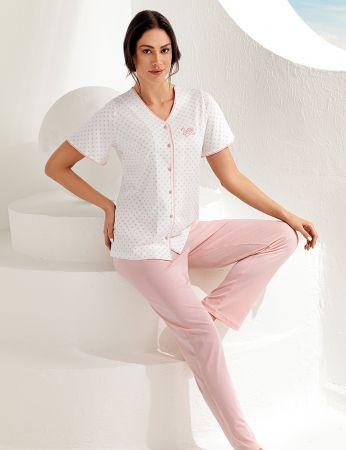 Şahinler Kadın Kısa Kol Pijama Takımı MBP25101-1