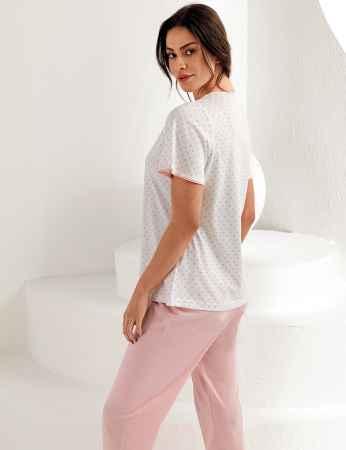 Şahinler Kadın Kısa Kol Pijama Takımı MBP25101-1 - Thumbnail