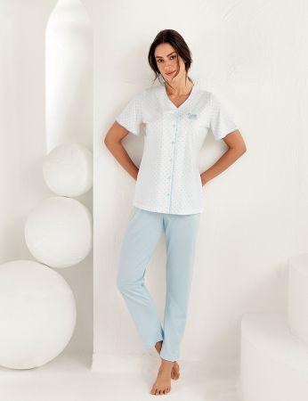 Şahinler Kadın Kısa Kol Pijama Takımı MBP25101-2