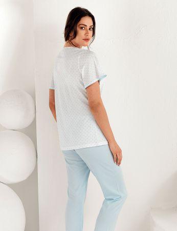 Şahinler - Şahinler Kadın Kısa Kol Pijama Takımı MBP25101-2 (1)