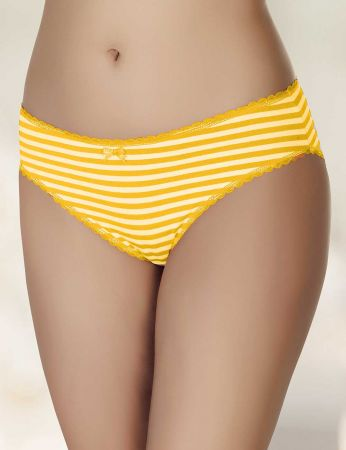 Şahinler - Şahinler Kadın Külot Sarı Beyaz D-3071