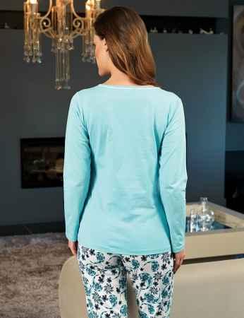 Şahinler Kadın Pijama Mavi MBP24111-2 - Thumbnail