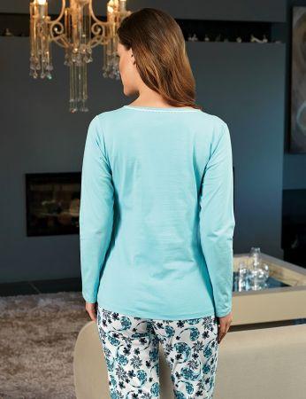 Şahinler Kadın Pijama Mavi MBP24111-2