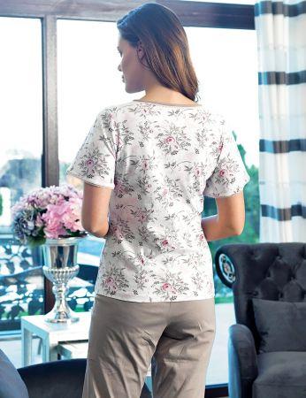 Şahinler Kadın Pijama Takımı Çiçek Desenli MBP24134-1