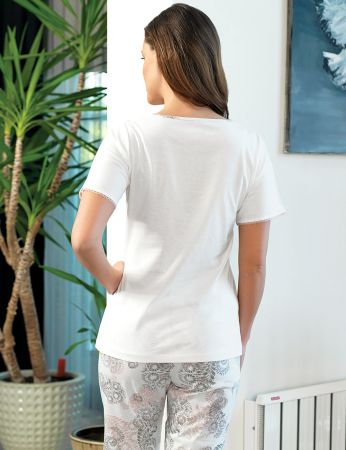 Şahinler - Şahinler Kadın Pijama Takımı Desenli MBP24131-1 (1)