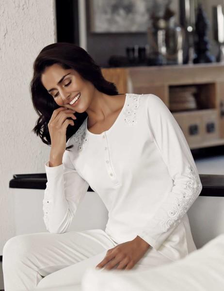Şahinler - Şahinler Kadın Pijama Takımı Ekru MBP23704-1