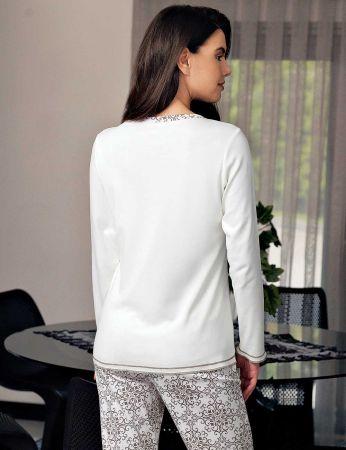 Şahinler - Şahinler Kadın Pijama Takımı Krem MBP23712-1 (1)