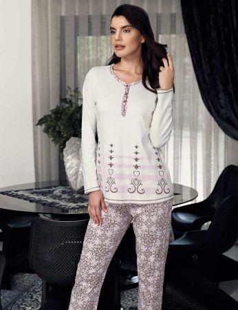 Şahinler - Şahinler Kadın Pijama Takımı Krem MBP23712-1