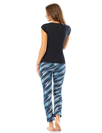 Şahinler Kadın Pijama Takımı Lacivert MBP24034-1 - Thumbnail