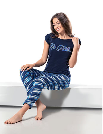 Şahinler Kadın Pijama Takımı Lacivert MBP24034-1