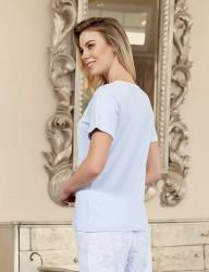 Şahinler Kadın Pijama Takımı Lila MBP23421-1 - Thumbnail