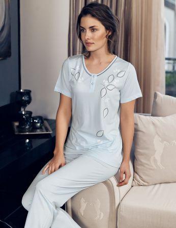 Şahinler - Şahinler Kadın Pijama Takımı Mavi MBP24104-2