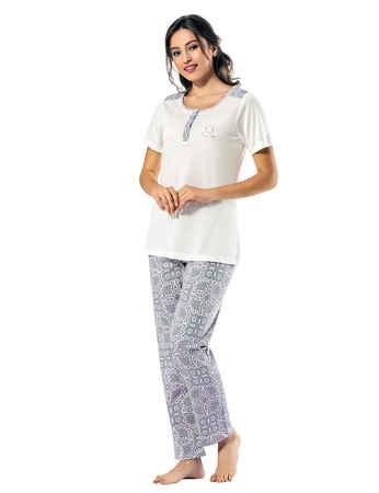 Şahinler Kadın Pijama Takımı MBP24817-1 - Thumbnail