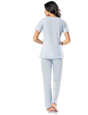 Şahinler Kadın Pijama Takımı MBP24818-3 - Thumbnail