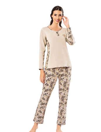 Şahinler Kadın Pijama Takımı MBP25002-1 - Thumbnail