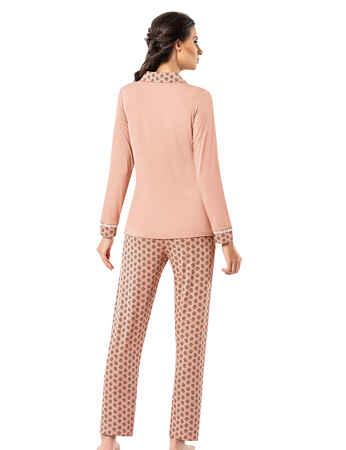Şahinler Kadın Pijama Takımı MBP25004-1 - Thumbnail