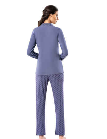 Şahinler Kadın Pijama Takımı MBP25004-2 - Thumbnail