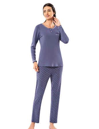 Şahinler Kadın Pijama Takımı MBP25005-2 - Thumbnail