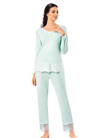 Şahinler Kadın Pijama Takımı MBP25007-2 - Thumbnail