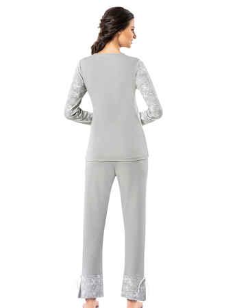 Şahinler Kadın Pijama Takımı MBP25008-1 - Thumbnail