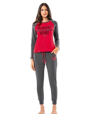 Şahinler Kadın Pijama Takımı MBP25010-1 - Thumbnail