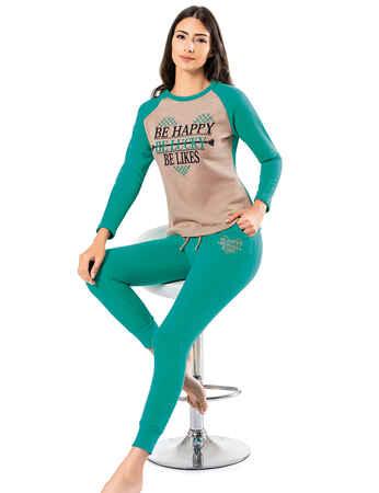 Şahinler Kadın Pijama Takımı MBP25010-2 - Thumbnail