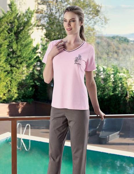 Şahinler - Şahinler Kadın Pijama Takımı Pembe MBP23428-1