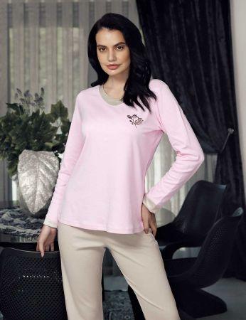 Şahinler - Şahinler Kadın Pijama Takımı Pembe MBP23705-1