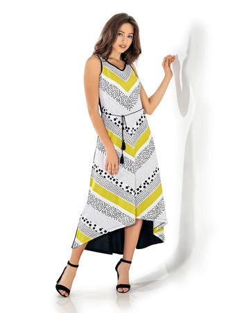 Şahinler - Şahinler Kadın Uzun Elbise Sarı MBP24039-1