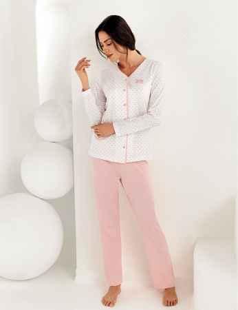 Şahinler Kadın Uzun Kol Pijama Takımı MBP25102-1 - Thumbnail