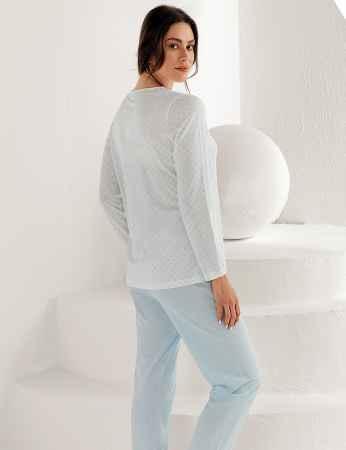 Şahinler Kadın Uzun Kol Pijama Takımı MBP25102-2 - Thumbnail