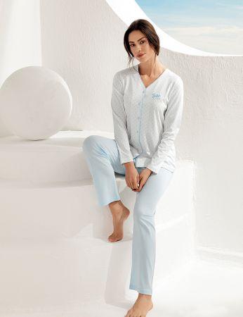 Şahinler Kadın Uzun Kol Pijama Takımı MBP25102-2