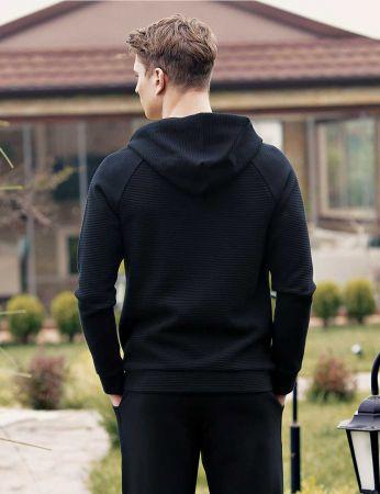 Şahinler - Şahinler Kapşonlu Erkek Pijama Takımı Siyah MEP23810-1 (1)