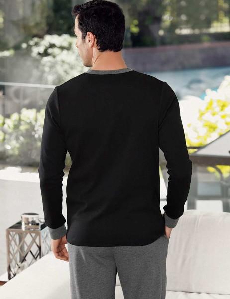 Şahinler - Şahinler Kartal Baskılı Erkek Pijama Takımı Siyah MEP23805-1 (1)
