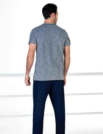 Şahinler Kısa Kollu Erkek Pijama Takım MEP24708-1 - Thumbnail