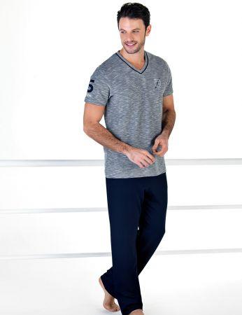 Şahinler - Şahinler Kısa Kollu Erkek Pijama Takım MEP24708-1